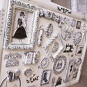"""Картины и панно ручной работы. Ярмарка Мастеров - ручная работа Интерьерное панно""""Окно в Париж""""монохром. Handmade."""