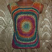 Одежда ручной работы. Ярмарка Мастеров - ручная работа Топ цветной. Handmade.