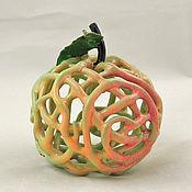 Сувениры и подарки handmade. Livemaster - original item Openwork ceramic Apple-bell. Handmade.