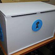 Комоды ручной работы. Ярмарка Мастеров - ручная работа Ящик для игрушек средний, плоский верх, с ручками- канатиками.. Handmade.