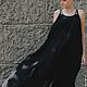"""Платья ручной работы. Ярмарка Мастеров - ручная работа. Купить Платье из серии """"Камни"""" Длинное.. Handmade. Черный, статуя"""