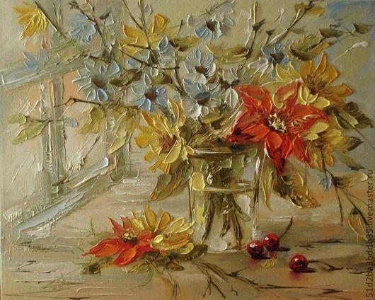Картины цветов ручной работы. Ярмарка Мастеров - ручная работа. Купить палитра. Handmade. Картина, картина в подарок, картина для интерьера