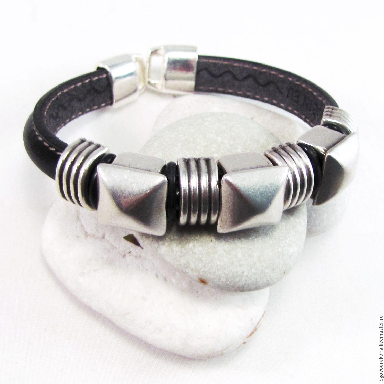 Мужские рокерские браслеты
