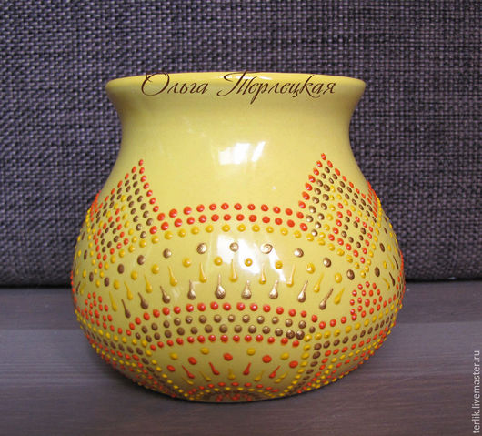 Купить керамическую сахарницу с авторской росписью в Москве. Доставка по РФ.