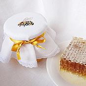 Для дома и интерьера handmade. Livemaster - original item Cap for jars of honey