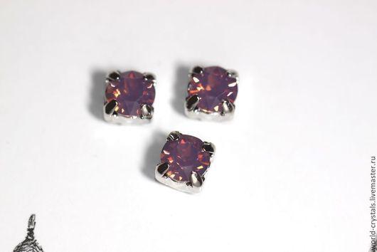 Кристаллы № 398 Cyclamen Opal.  Ювелирные касты в родии - в наличии