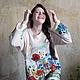 Кофты и свитера ручной работы. Цветущие маки...космоса знаки :). Alena Barabulka. Ярмарка Мастеров. Объемная вышивка