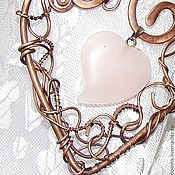 Украшения ручной работы. Ярмарка Мастеров - ручная работа кулон сердце Ты Всегда в Моем Сердце (wire wrap)- на святого валентина. Handmade.