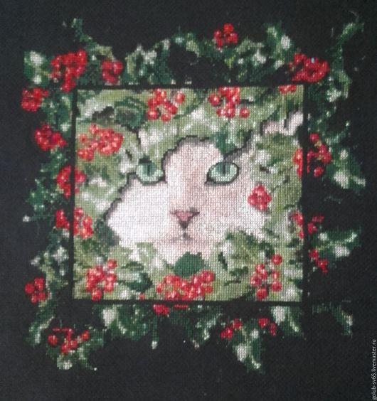 Животные ручной работы. Ярмарка Мастеров - ручная работа. Купить Рождественский кот. Handmade. Зеленый, сказочный праздник, зеленые глаза
