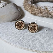 Украшения handmade. Livemaster - original item Silver plated earrings the rose of the winds. Handmade.