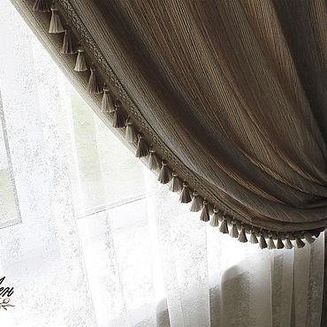 Текстиль ручной работы. Ярмарка Мастеров - ручная работа Шторы с бахромой. Handmade.
