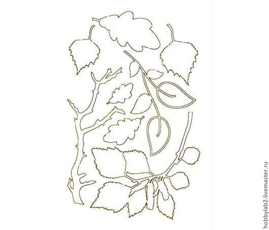 Открытки и скрапбукинг ручной работы. Ярмарка Мастеров - ручная работа. Купить Набор чипборда Ветки. Handmade. Набор чипборда