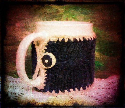 Кухня ручной работы. Ярмарка Мастеров - ручная работа. Купить Чашка в вязаном чехле №2.. Handmade. Посуда, оригиналльный подарок