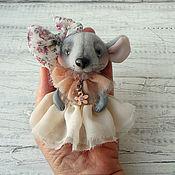 handmade. Livemaster - original item Teddy Animals: Mouse Monica. Handmade.