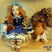 Куклы и пупсы ручной работы. Ярмарка Мастеров - ручная работа Интерьерная коллекционная текстильная кукла Элли с Татошка. Handmade.