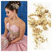 Материалы для творчества handmade. Livemaster - original item Gold lace embroidery. Handmade.