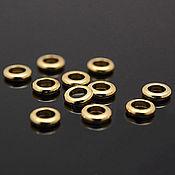 Материалы для творчества handmade. Livemaster - original item 10 PCs. Bead 4mm gold plated th. Korea (art. 2203). Handmade.