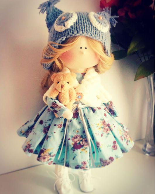 Человечки ручной работы. Ярмарка Мастеров - ручная работа. Купить Кукла серо-голубая Совушка.. Handmade. Кукла ручной работы
