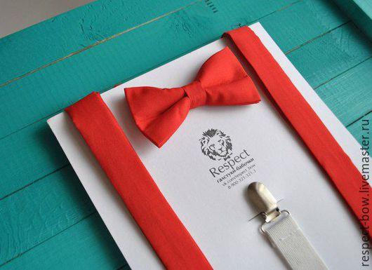 Галстуки, бабочки ручной работы. Ярмарка Мастеров - ручная работа. Купить Бабочка и подтяжки комплект Классика красный/ галстук-бабочка, помочи. Handmade.
