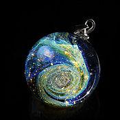 Украшения handmade. Livemaster - original item Pendant ball Starlight Night. Universe. Galaxy, planet. Jewelry Space. Handmade.