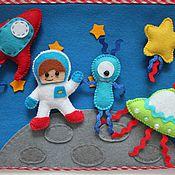 """Куклы и игрушки ручной работы. Ярмарка Мастеров - ручная работа Развивающее панно """"Космос"""". Handmade."""