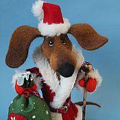 Куклы и игрушки ручной работы. Ярмарка Мастеров - ручная работа Таксик - Дед Морозик. Handmade.