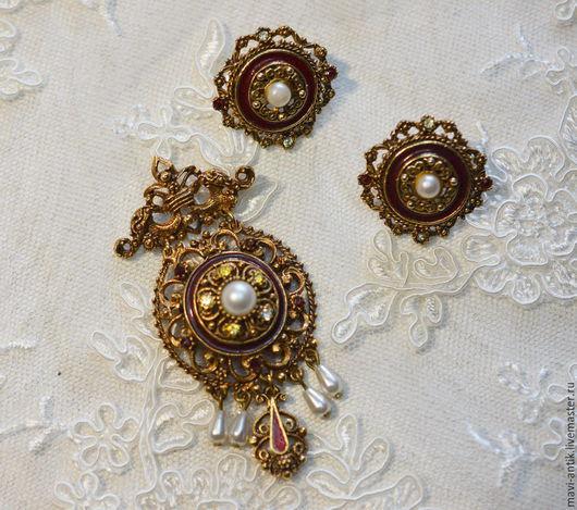 Винтажные украшения. Ярмарка Мастеров - ручная работа. Купить комплект Florenza. Handmade. Разноцветный, ювелирный сплав