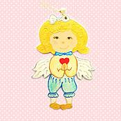 """Для дома и интерьера ручной работы. Ярмарка Мастеров - ручная работа """"Ангел-baby"""" ёлочная игрушка. Handmade."""
