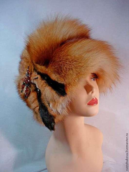Шапки ручной работы. Ярмарка Мастеров - ручная работа. Купить Шапка из лисы огневки. Handmade. Рыжий, шапка женская