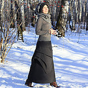 Одежда ручной работы. Ярмарка Мастеров - ручная работа юбка ГРАФИТОВАЯ. Handmade.