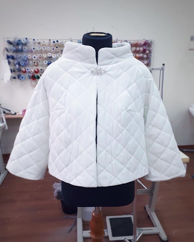 Бархатная свадебная курточка Курточка для невесты Свадебное пальто, Накидки, Москва,  Фото №1