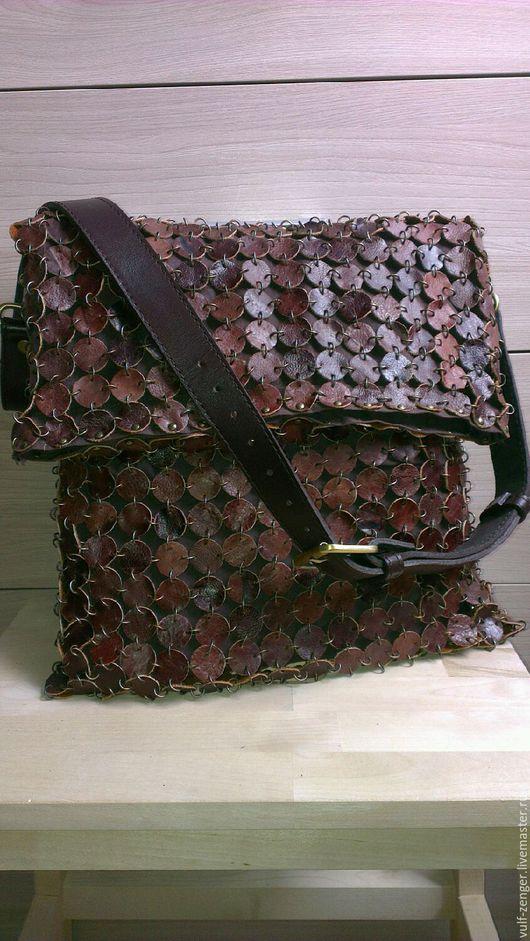 Женские сумки ручной работы. Ярмарка Мастеров - ручная работа. Купить Женская кожаная сумка. Handmade. Стильная сумка