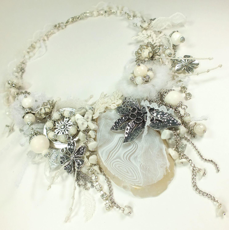 Sugar - White Etude. Boho jewelry, Necklace, St. Petersburg,  Фото №1