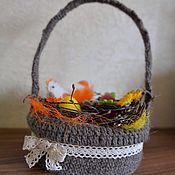 Для дома и интерьера ручной работы. Ярмарка Мастеров - ручная работа Корзина для пасхальных яиц. Handmade.