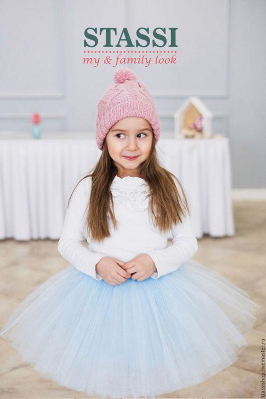 Одежда для девочек, ручной работы. Ярмарка Мастеров - ручная работа. Купить Детская пышная юбка,  голубая юбка-пачка для девочки. Handmade.