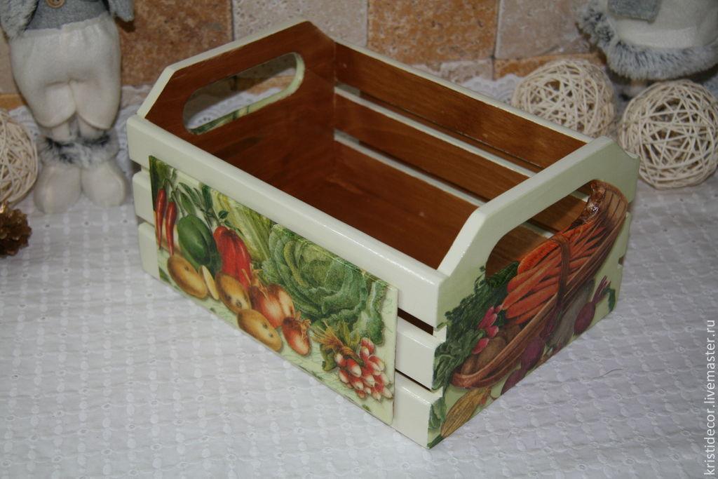 Декупаж ящика для фруктов
