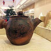 """Посуда ручной работы. Ярмарка Мастеров - ручная работа Чайник """"Сакура"""". Handmade."""