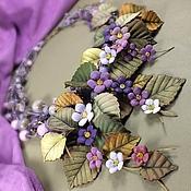Украшения handmade. Livemaster - original item Happy Garden Lilac. Necklace made of natural stones and natural leather. Handmade.