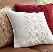 Для дома и интерьера ручной работы. Ярмарка Мастеров - ручная работа подушки интерьерные вязаные. Handmade.