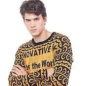 """Одежда ручной работы. Ярмарка Мастеров - ручная работа Вязаный свитер мужской """"Здесь может быть Ваша реклама"""". Handmade."""