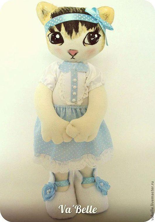 Игрушки животные, ручной работы. Ярмарка Мастеров - ручная работа. Купить котёнок Фаня. Handmade. Котенок, игрушка, белый, флис