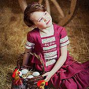 Работы для детей, ручной работы. Ярмарка Мастеров - ручная работа Платье летнее БАРЫШНЯ -5. Handmade.