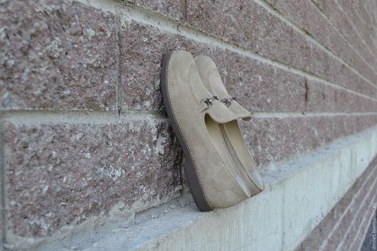 Обувь ручной работы. Ярмарка Мастеров - ручная работа. Купить Туфли женские с фурнитурой. Handmade. Бежевый, удобная обувь