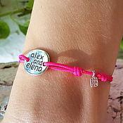 Украшения handmade. Livemaster - original item Bracelet-thread: Memo (Memo) bracelet for the application of labels. Handmade.