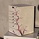 Мини-комоды ручной работы. Шкатулка для украшений Cherry Blossom. PaneenBox. Ярмарка Мастеров. Роспись, цветение, подарок женщине