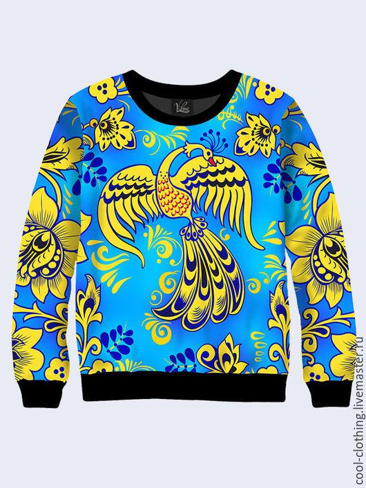 """Кофты и свитера ручной работы. Ярмарка Мастеров - ручная работа. Купить Свитшот """"Жар-птица"""". Handmade. Разноцветный, свитшот с рисунком"""