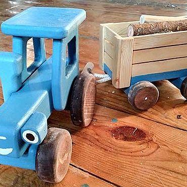 Куклы и игрушки ручной работы. Ярмарка Мастеров - ручная работа Синий трактор. Handmade.
