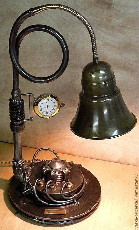 Освещение ручной работы. Ярмарка Мастеров - ручная работа. Купить Техно-лампы. Handmade. Техно-арт, лампа, дизельпанк, loft