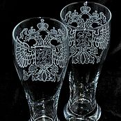 Посуда handmade. Livemaster - original item Coat of arms. Beer glass. Handmade.