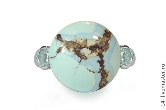 Кольца ручной работы. Ярмарка Мастеров - ручная работа. Купить кольцо Марципан свет камней. Handmade. Бирюзовый, серебряное кольцо